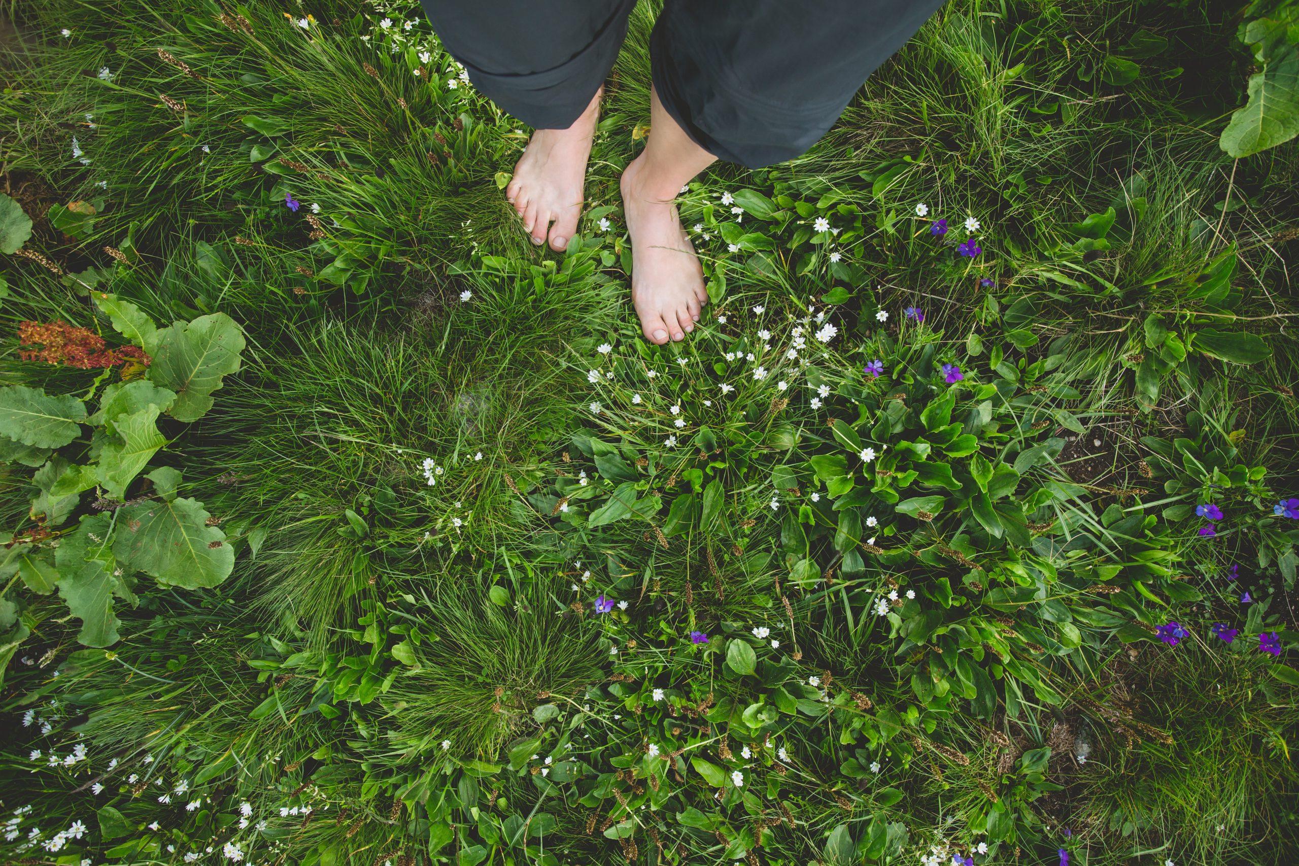 pieds-femme-herbes-deceleration-camp