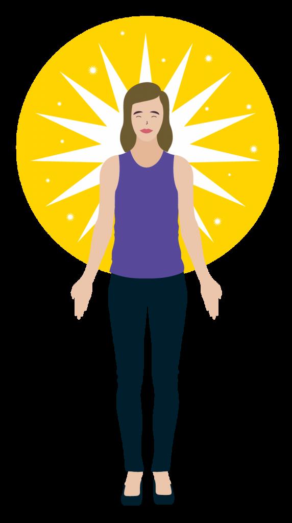 illustration femme yoga posture