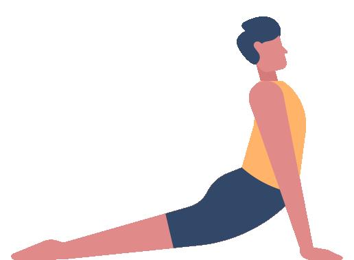 Illustration homme posture